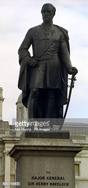 Major General Sir Henry Havelock one of the three permanent statues in Trafalgar Square British artist Mark Wallinger unveiled his statue Ecce Homo a...