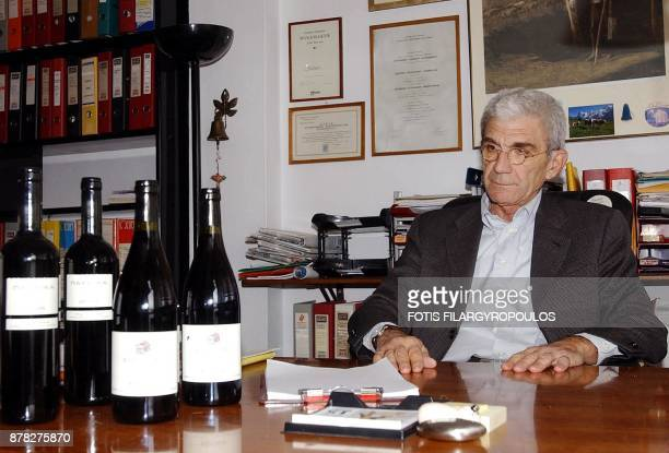 Major Greek winemaker and head of Arctouros a society for the protection of the bears in Greece Yiannis Boutaris poses in his office in Athens Greece...