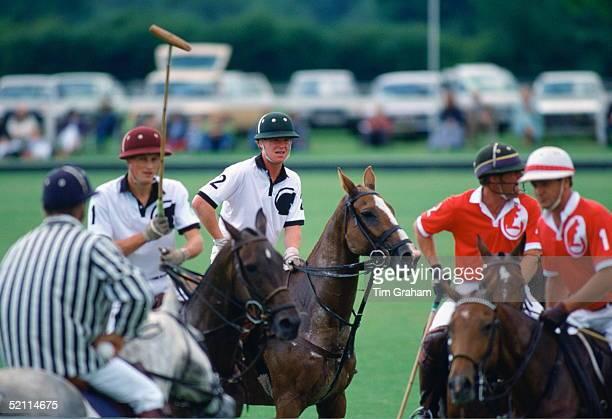 Major James Hewitt Playing Polo At The Royal Berkshire Polo Club