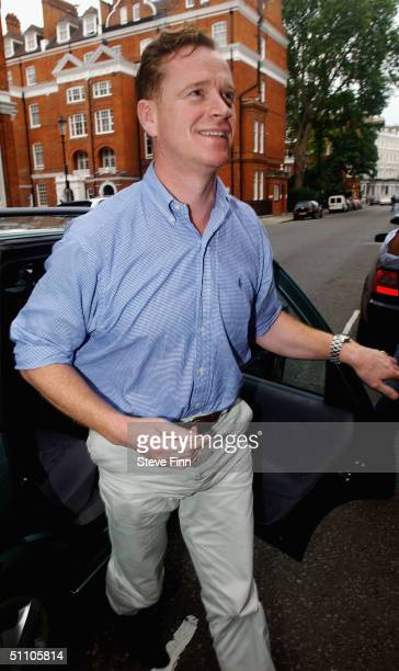 Major James Hewitt returns home following his arrest on drugs charges last night to his South Kensington residence on July 22 2004 in London The...