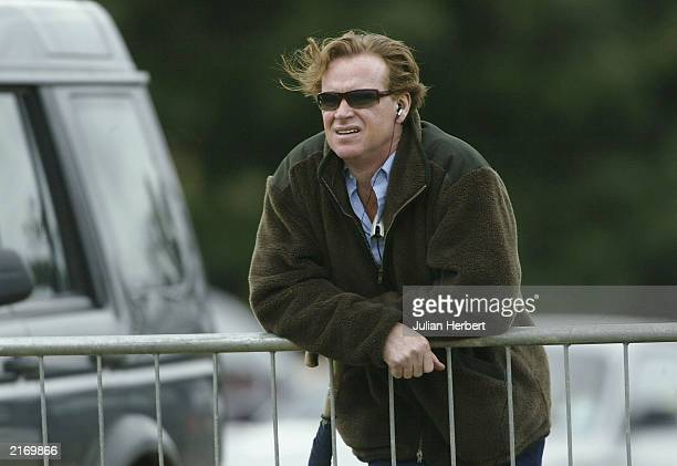 Major James Hewitt watches a semi final match of The Veuve Clicquot Cup between Dubai and Hildon Sport at The Cowdray Park Polo Club July 17 2003...