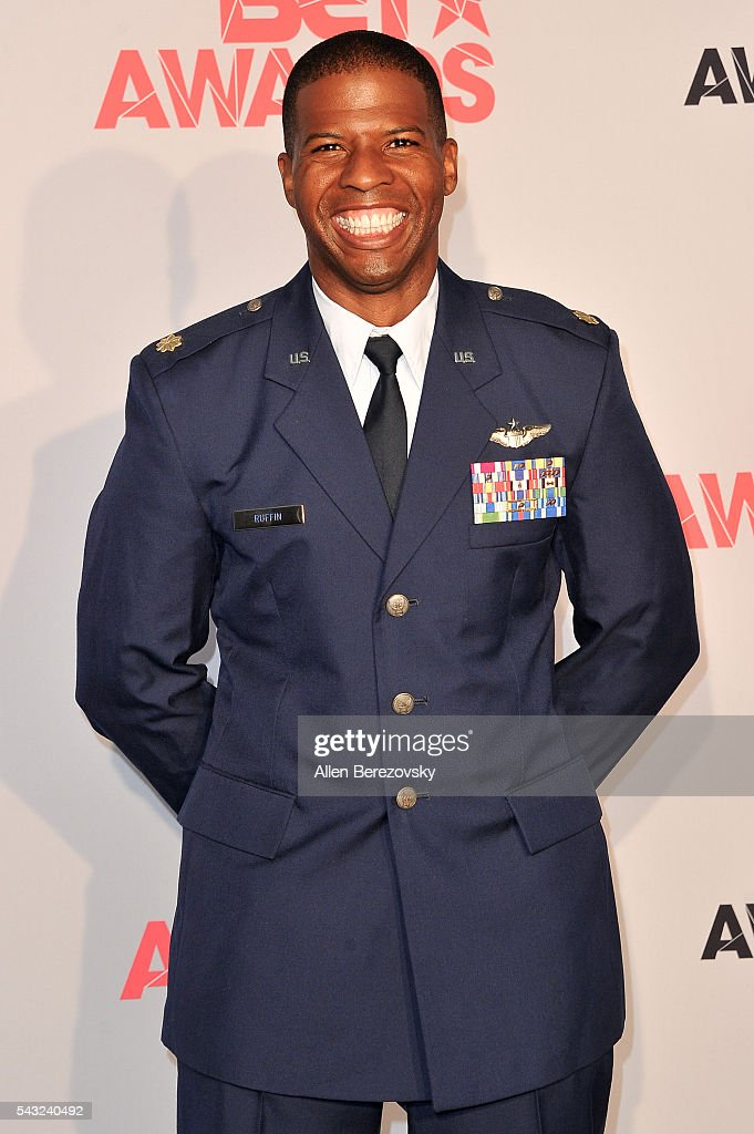 Major Kenyatta H. Ruffin poses for pictures in the press room during the 2016 BET Awards at Microsoft Theater on June 26, 2016 in Los Angeles, California.