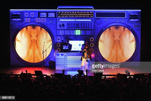 Major Lazer featuring Diplo and Switch perform at House of Blues on June 18 2009 in Boston Massachusetts