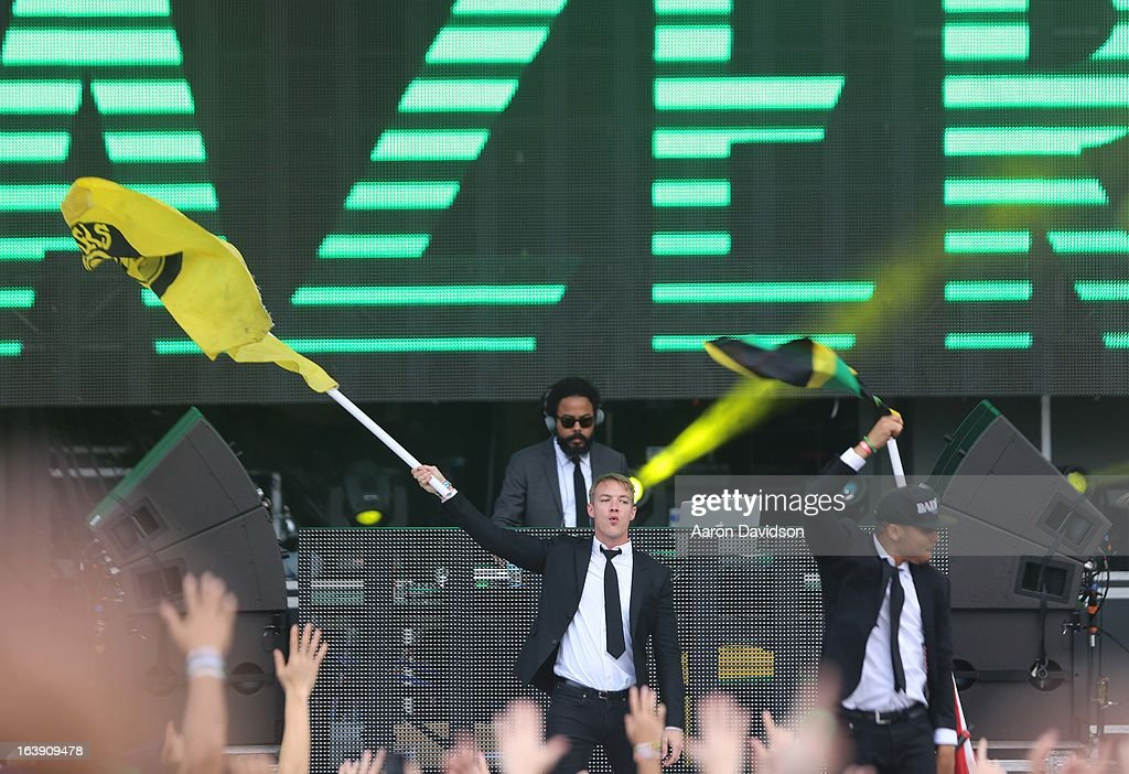 Major Lazer perform at Ultra Musci Festival - Weekend 1 at Bayfront Park Amphitheater on March 17, 2013 in Miami, Florida.