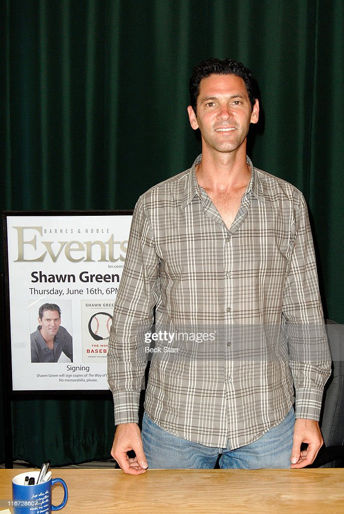 Major League AllStar And Former Dodger Shawn Green Signs Copies Of His New Book 'The Way Of Baseball' at Barnes Noble Booksellers on June 16 2011 in...