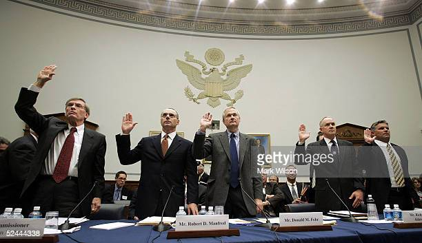Major League Baseball Commissioner Allan 'Bud' Selig is sworn in March 17 2005 during a House committee that is investigating the efforts by Major...
