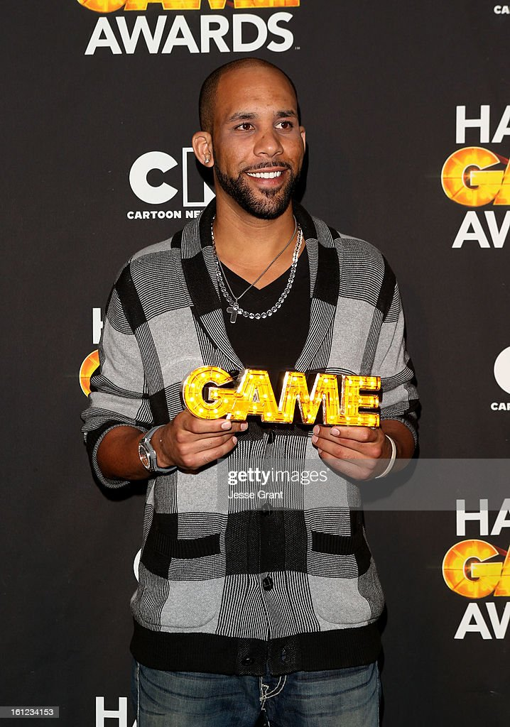 Major League Baseball Player <a gi-track='captionPersonalityLinkClicked' href=/galleries/search?phrase=David+Price+-+Honkballer&family=editorial&specificpeople=4961936 ng-click='$event.stopPropagation()'>David Price</a> attends the Third Annual Hall of Game Awards hosted by Cartoon Network at Barker Hangar on February 9, 2013 in Santa Monica, California. 23270_004_JG_0105.JPG