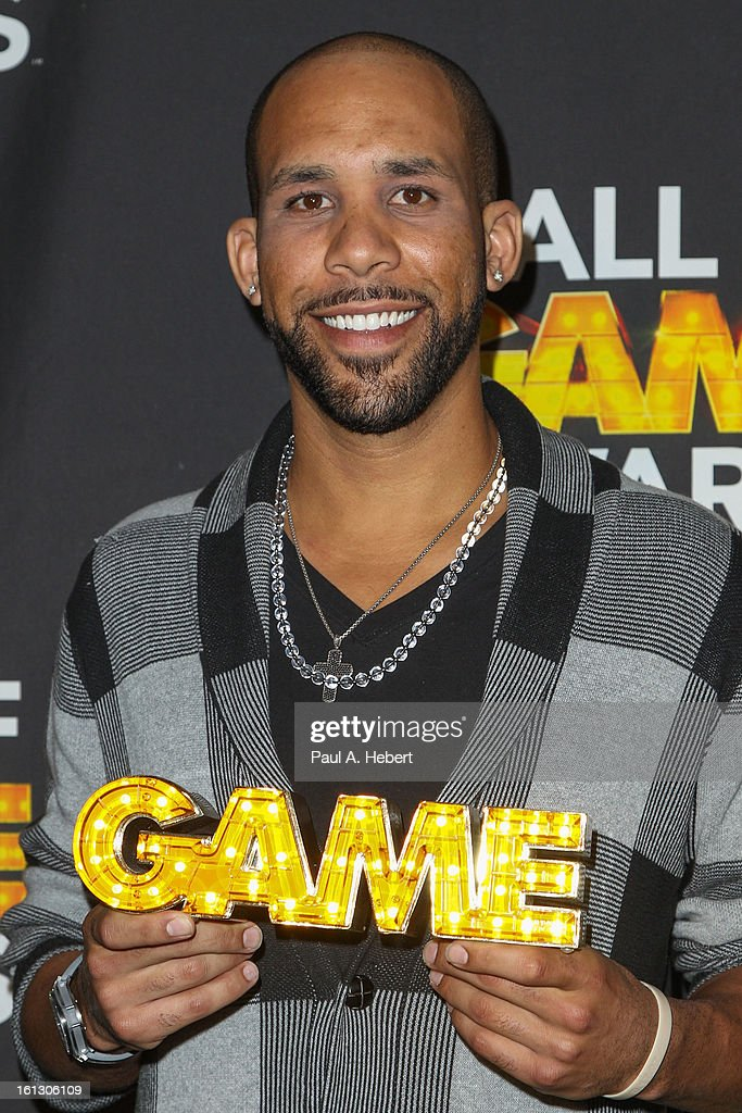 Major League Baseball Player <a gi-track='captionPersonalityLinkClicked' href=/galleries/search?phrase=David+Price+-+Baseball+Player&family=editorial&specificpeople=4961936 ng-click='$event.stopPropagation()'>David Price</a> poses in the press room during the 3rd Annual Cartoon Network's 'Hall Of Game' Awards held at Barker Hangar on February 9, 2013 in Santa Monica, California.