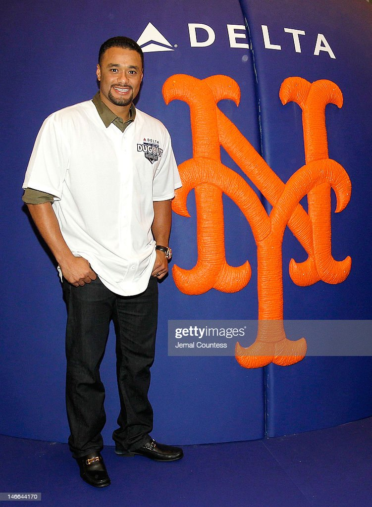 Major league Baseball player Johan Santana attends the opening of the Delta Dugout at Vanderbilt Hall at Grand Central Terminal on June 21, 2012 in New York City.