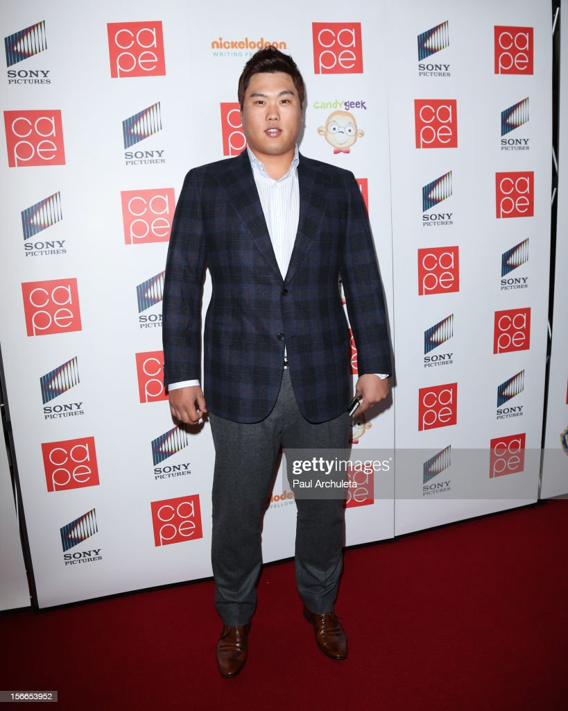 Major League Baseball Player Ryu Hyun-Jin attends the 2012 CAPE Holiday Fundraiser 'I Am...All In' at the W Hollywood on November 17, 2012 in Hollywood, California.