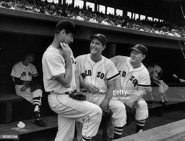 Major League baseball players Ted Wiliams Jimmy Piersall and Jack Jensen