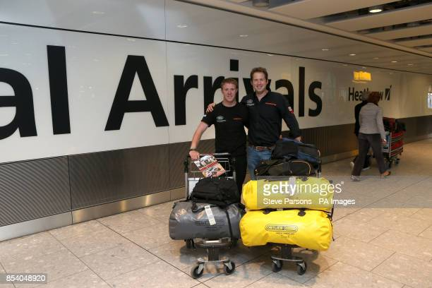Major Matt OOtildeHare and Corporal Phillip OcircBarneyOtilde Gillespie as the Race2Recovery team return to Terminal 5 at Heathrow Airport after...