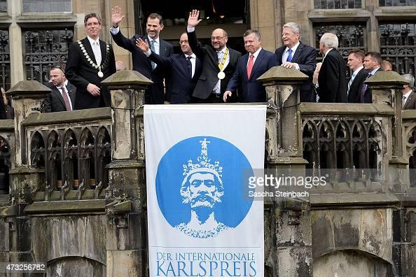 Major of Aachen Marcel Philipp King Felipe VI of Spain French President Francois Hollande European Parliament President Martin Schulz King Abdullah...