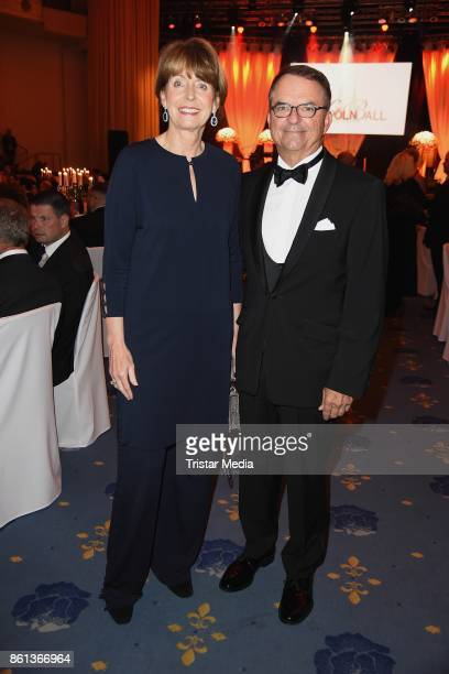 Major of Cologne Henriette Reker and her husband Perry Somers attend the 29 KoelnBall on October 14 2017 in Cologne Germany