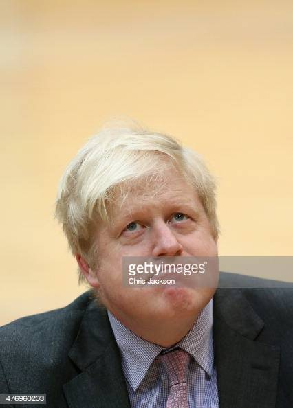 Major of London Boris Johnson at the media launch for the Invictus Games 2014 at the Copper Box Arena in the Olympic Park on March 6 2014 in London...