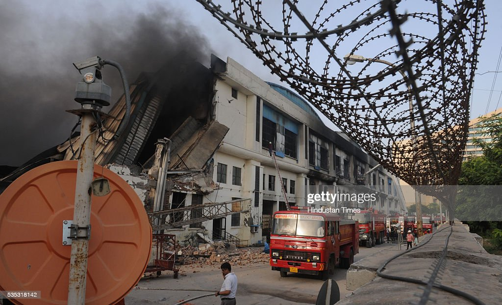 A major portion of an automobile air conditioners manufacturing factory was gutted on Sunday in a fire at Subros Limited Company, Sector-8, Industrial Model Township (IMT), Manesar due to blast the commercial cylinder, on May 29, 2016 in Gurgaon, India. Over a dozen fire tenders were pressed into service after the fire was reported. No one injured in this Fire.