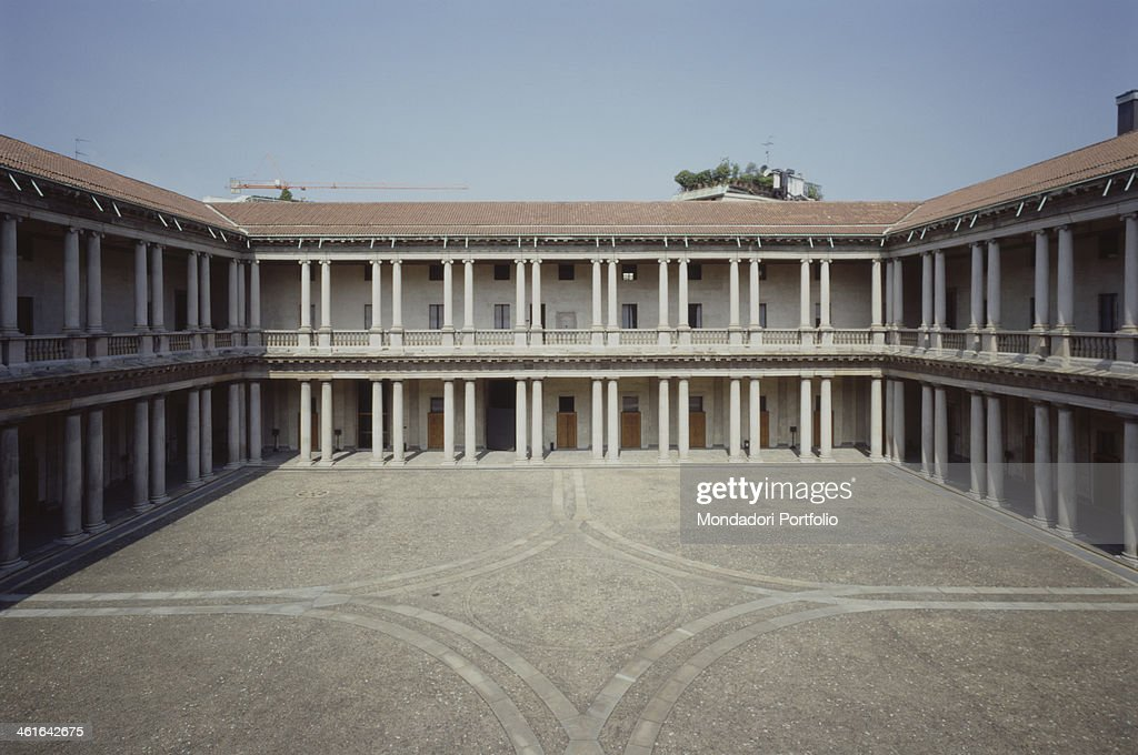 Major Seminary by Fabio Mangone or Fabio Mengoni 17th Century Italy Lombardy Milan Whole artwork view View of the courtyard with a double row of...