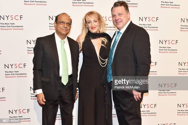 Mak Jawadekar Kimberly Deventer and Stephen Van Deventer attend the NYSCF Gala Science Fair at Jazz at Lincoln Center on October 16 2017 in New York...