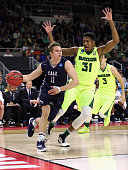 Makai Mason of the Yale Bulldogs drives against Terry Maston of the Baylor Bears in the second half of their game during the first round of the 2016...