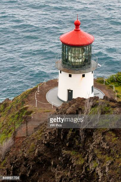 Makapu'u Lighthouse at the eastern end of the island O'ahu Hawaii