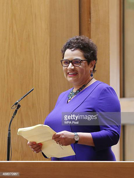 Makar Jackie Kay reads a poem during the opening of the fifth session of the Scottish Parliament on July 2 2016 in Edinburgh United Kingdom