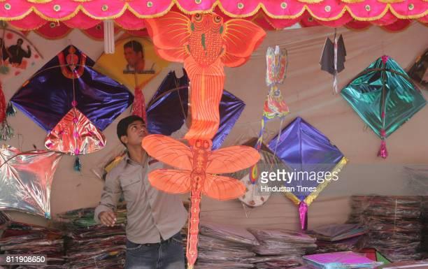 Makar Sankranti SS Bareilly kite Centre owner displays kites on Chinese design for sale in Imamwada Dongri