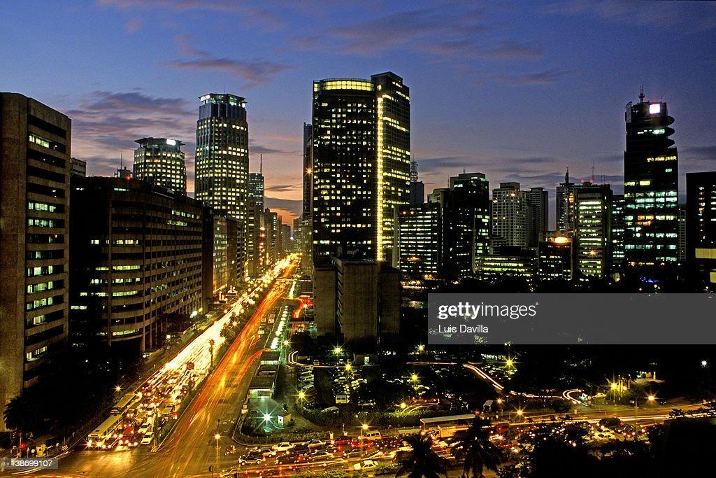 Makati city in manila : Stock Photo