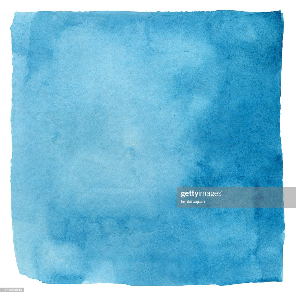 Makayan Blue Watercolour Square : Stock Photo
