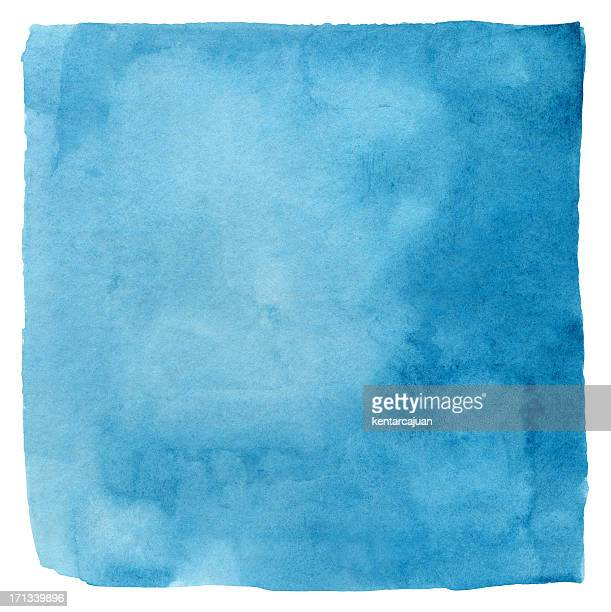 Makayan Blue Watercolour Square