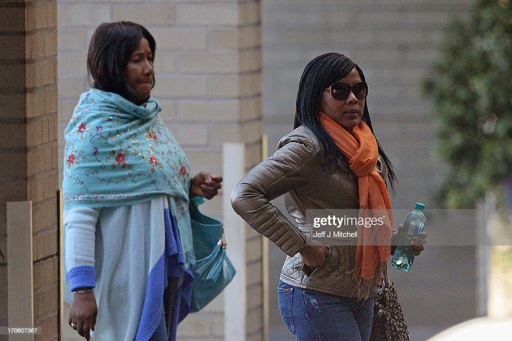 Makaziwe Mandela (L), Nelson Mandela's daughter from his first marriage arrives with her daughter Tukwini at the Mediclinic Heart Hospital on June 15, 2013 on June 15, 2013 in Pretoria, South Africa. The former South African President and leader of the anti-apartheid movement is spending a seventh night in hospital and is reported to be responding better to treatment for a recurring lung infection.