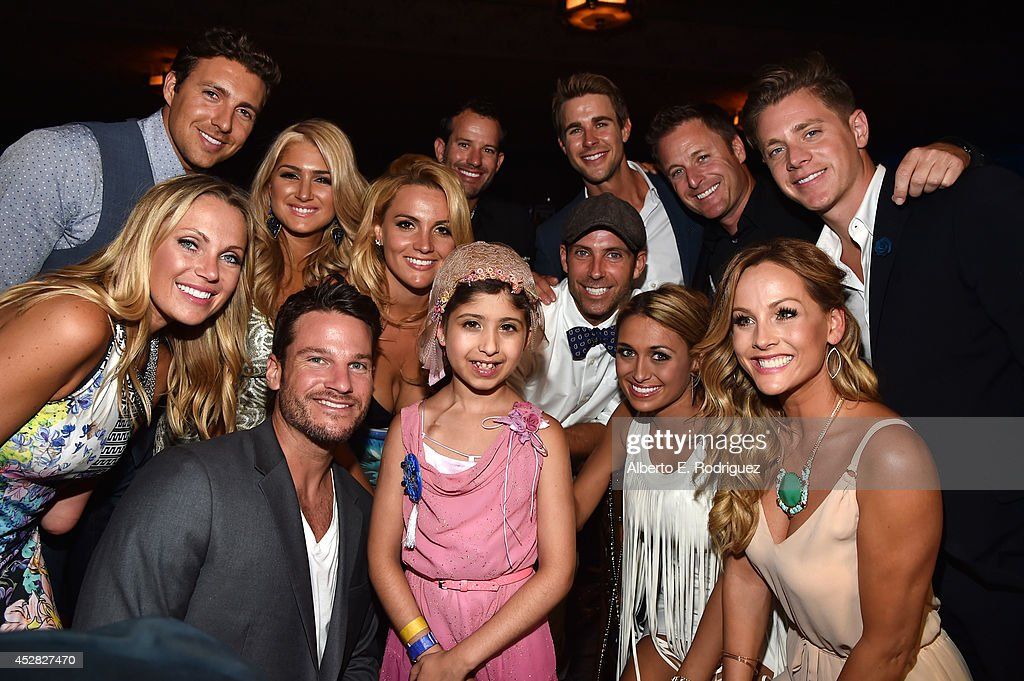 Make a Wish recipient Wish Child Grace (C) and the casts of 'The Bachelor' and 'The Bachelorette' pose in the audience at the 2014 Young Hollywood Awards brought to you by Samsung Galaxy at The Wiltern on July 27, 2014 in Los Angeles, California. The Young Hollywood Awards will air on Monday, July 28 8/7c on The CW.
