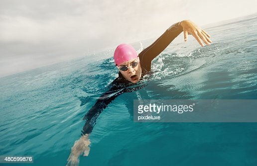 Make every swim your personal best : Stock Photo