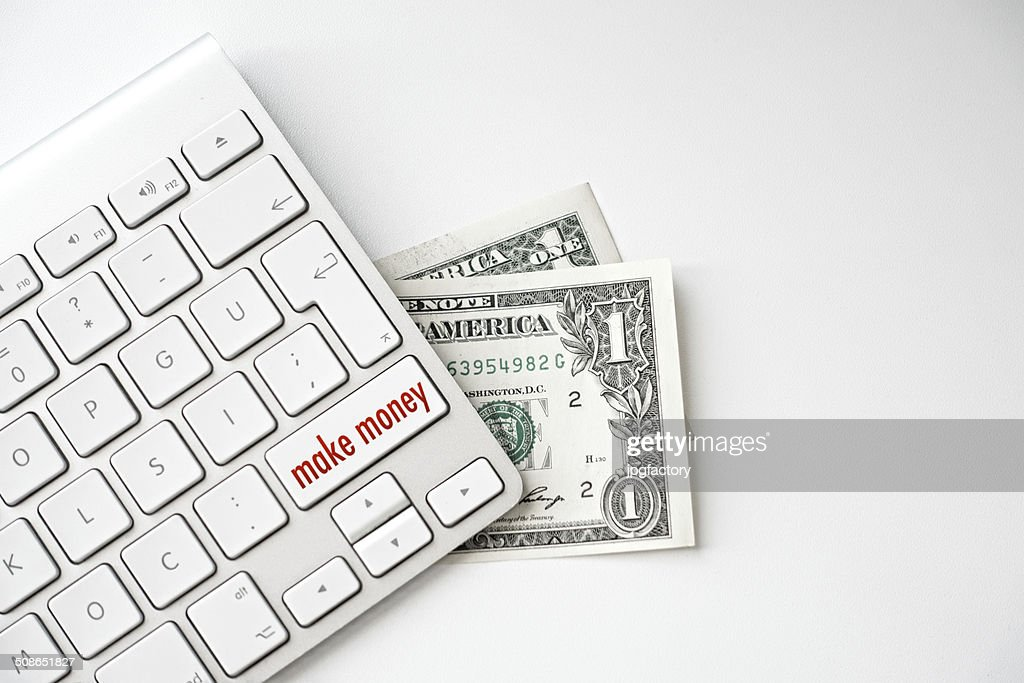 make money message on keyboard : Stock Photo