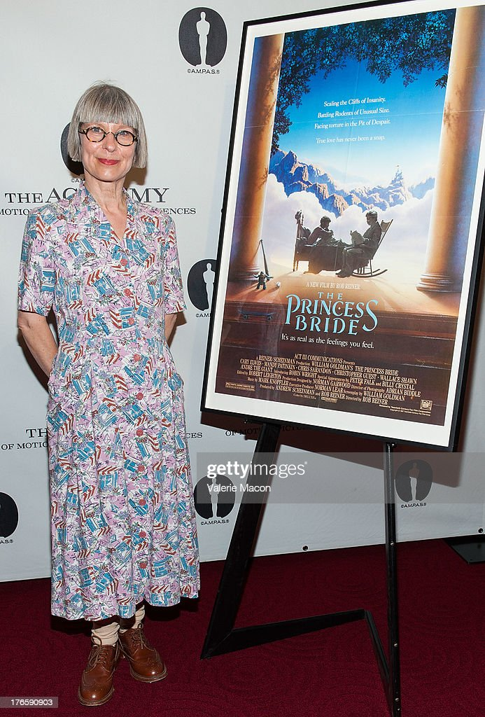 Make up artist Lois Burwell attends the Academy Of Motion Picture Arts And Sciences' Presents 'The Princess Bride' With Live Commentary Onstage at AMPAS Samuel Goldwyn Theater on August 15, 2013 in Beverly Hills, California.