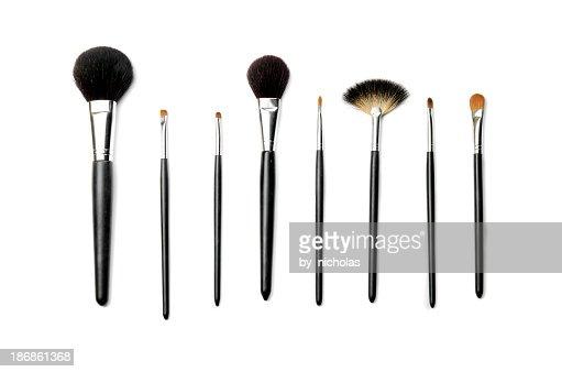 'Make up brushes, isolated on white'