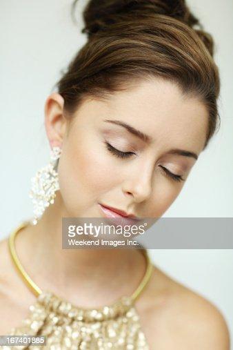 Make up for party : Bildbanksbilder