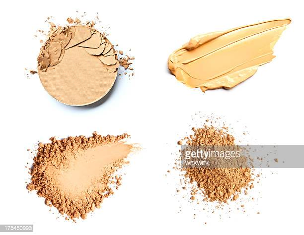 Make up foundation and powder smears