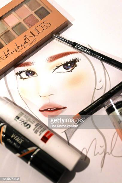 A make up look backstage ahead of the StrateasCarlucci show at MercedesBenz Fashion Week Resort 18 Collections at Carriageworks on May 18 2017 in...