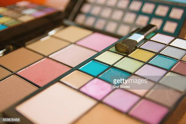 Make up palette with eyeshadows and face powder