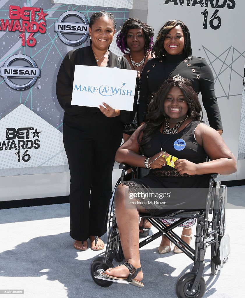 Make-A-Wish Foundation winners attend the 2016 BET Awards at the Microsoft Theater on June 26, 2016 in Los Angeles, California.