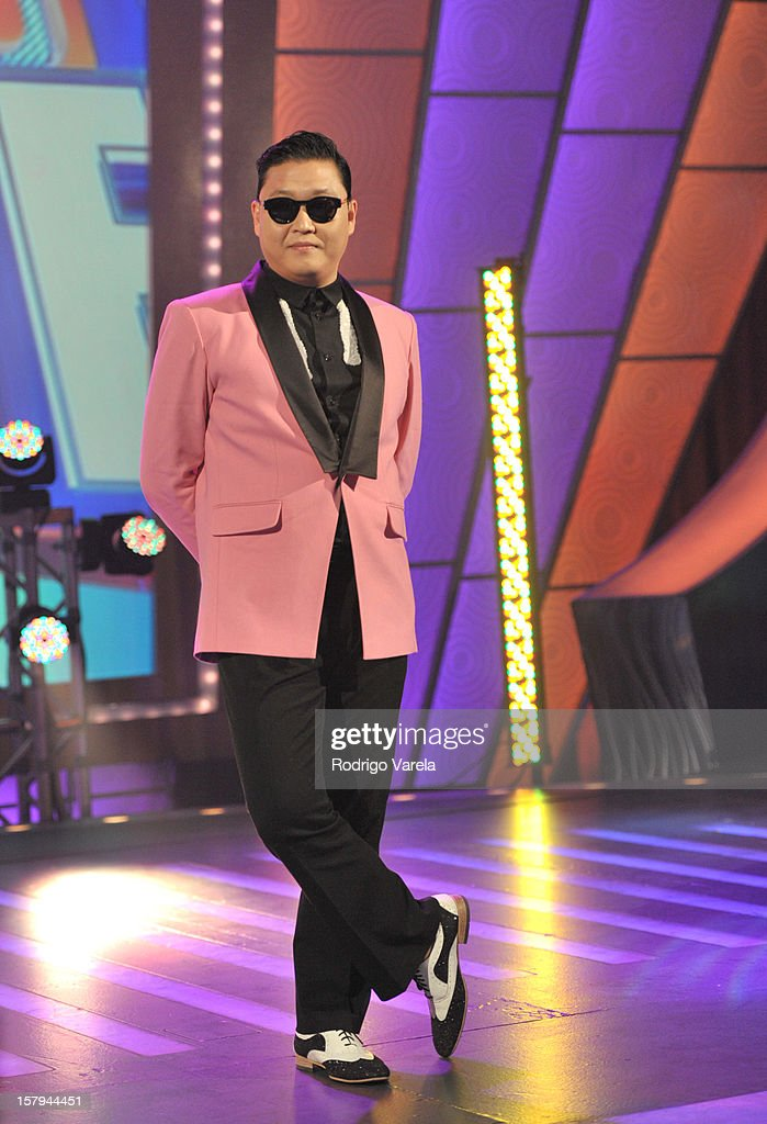 PSY makes first appearance on Spanish-language television on Univision's Sabado Gigante on December 7, 2012 in Miami, Florida.