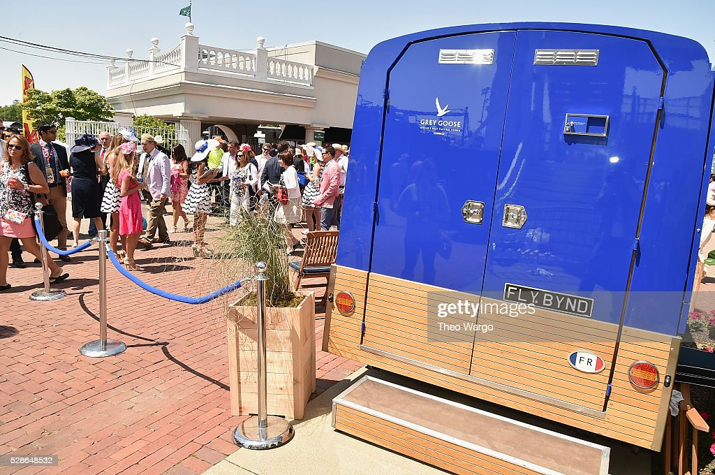 GOOSE makes its U.S. debut of 'The Worlds Most Intimate Martini Bar', disguised as a beautifully designed camionnette, at the 142nd Kentucky Derby on May 6, 2016 in Louisville, Kentucky.