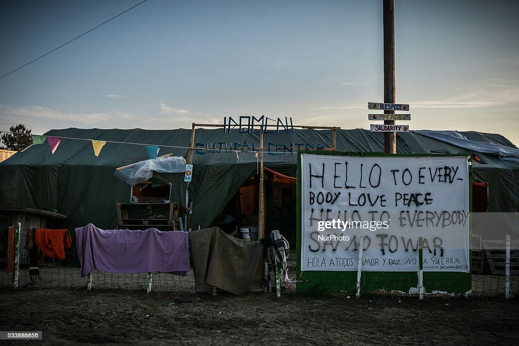 Makeshift migrant camp near the village of Idomeni, on May 23, 2016. Greece has begun evacuating thousands of stranded migrants from the makeshift Idomeni camp on its northern border with Macedonia.