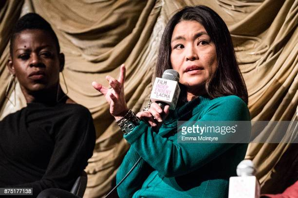 Makeup artist Angie Wells and editor Mako Kamitsuna attend 'Film Independent at LACMA presents 'Mudbound' screening And QA' at Bing Theater at LACMA...
