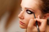 Make-up artist at work.