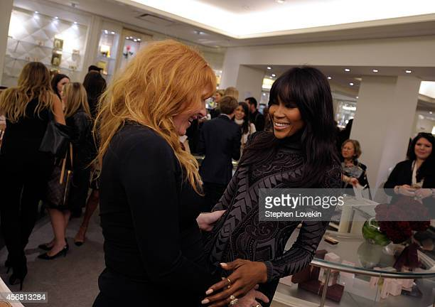 Makeup artist Charlotte Tilbury and model Naomi Campbell attend Charlotte Tilbury Arrives In America VIP Beauty Launch event presented by Bergdorf...