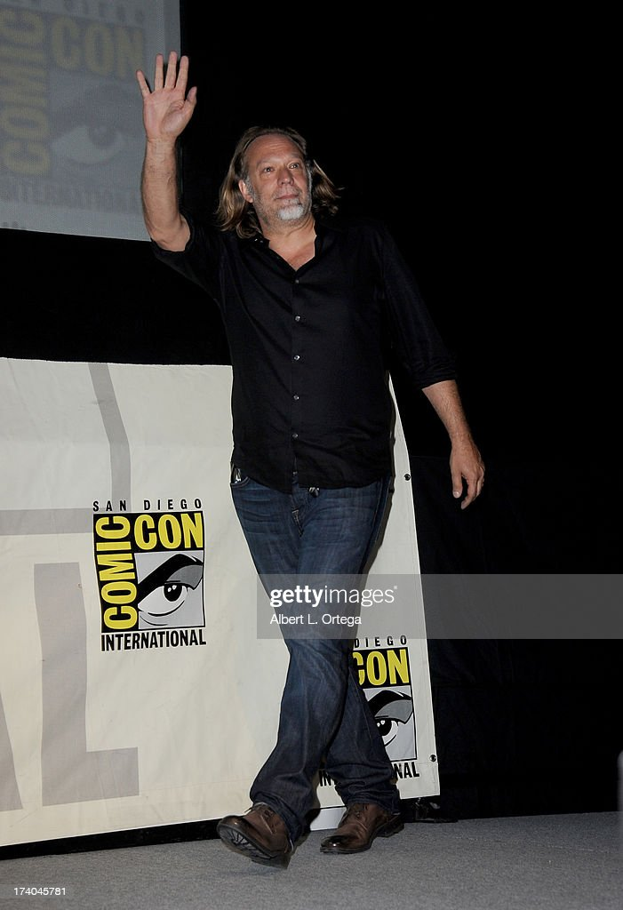 Makeup artist Gregory Nicotero speaks onstage at AMC's 'The Walking Dead' panel during Comic-Con International 2013 at San Diego Convention Center on July 19, 2013 in San Diego, California.