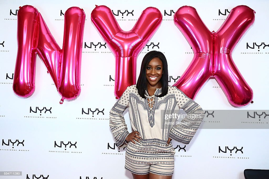 Makeup artist Jackie Aina attends NYX Professional Makeup Store Kings Plaza Ribbon Cutting on May 25, 2016 in Brooklyn, New York.