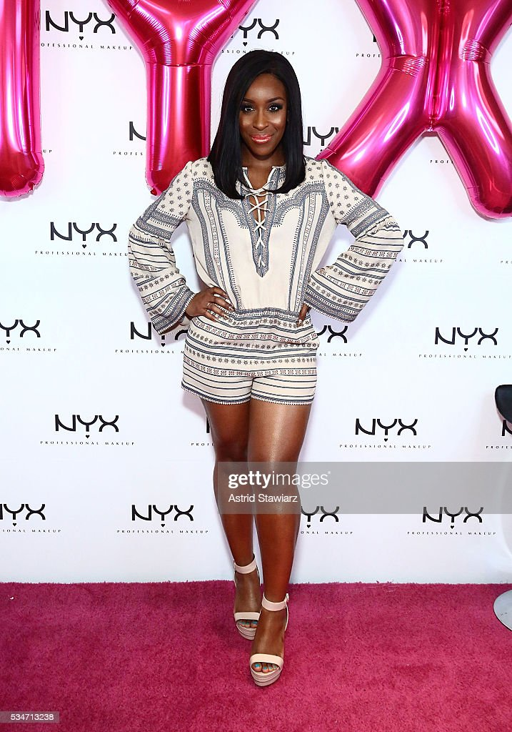 Makeup artist Jackie Aina attends the NYX Professional Makeup Store Kings Plaza Ribbon Cutting on May 25, 2016 in Brooklyn, New York.