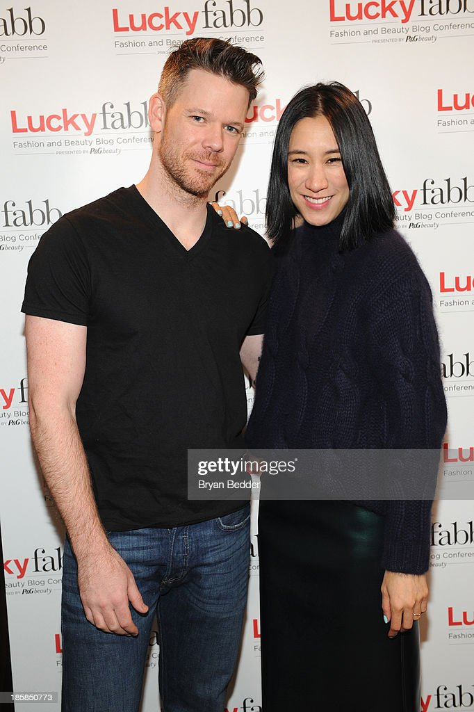 Makeup artist, Jake Bailey and Editor in Chief of Lucky, <a gi-track='captionPersonalityLinkClicked' href=/galleries/search?phrase=Eva+Chen&family=editorial&specificpeople=2926742 ng-click='$event.stopPropagation()'>Eva Chen</a> attend Lucky Magazine's Two-Day East Coast